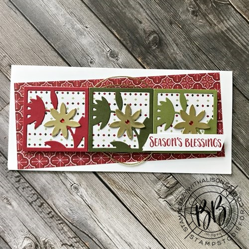 Image of a Just in CASE card hand stamped using the Floral Squared Dies and All Squared Away Stamp Set by Stampin' Up!