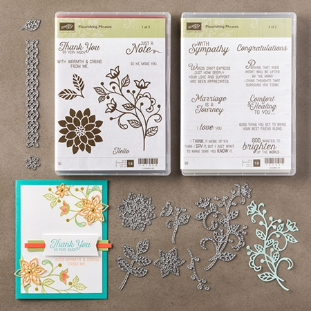 Flourishing Phrases and Flourish Thinklits Dies by Stampin Up www.stampstodiefor.com