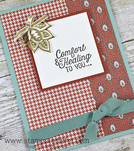 Stampin Up Paisleys & Posies stamp set and coordinating Paisleys Framelits Comfort & Healing to You, www.stampstodiefor.com