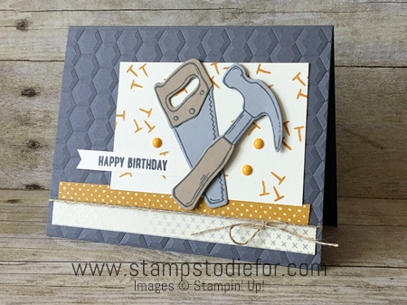 Nailed It stamp set by Stampin' Up!  Just in Case Serieis www.stampstodiefor.com 2
