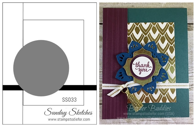Sunday Sketches SS033 Stamps To Die For www.stampstodiefor Eastern Palace Suite by Stampin' Up!