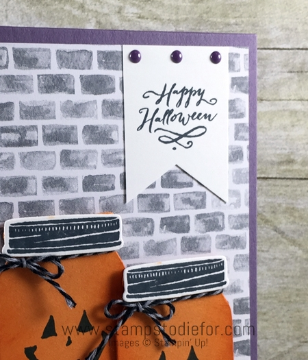Stampin Up Jar of Haunts Stamp Set, Holiday Catalog, Halloween Card Sunday Sketches SS003  www.stampstodiefor.com