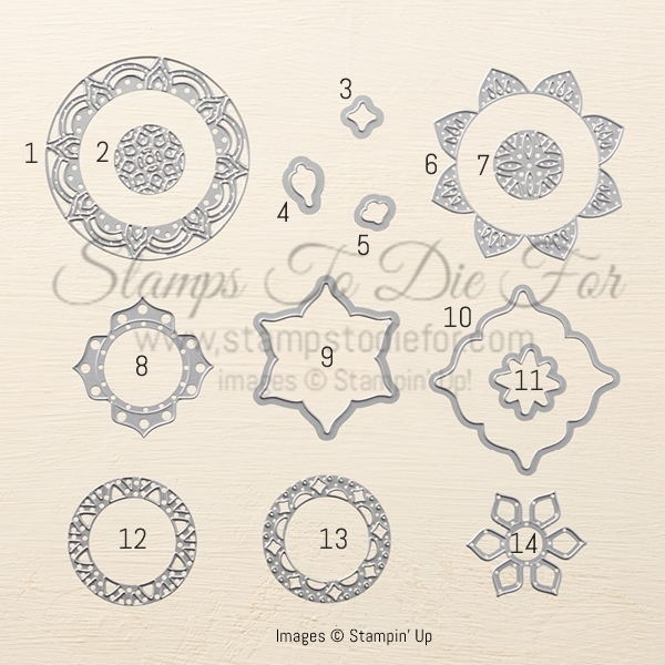 Eastern Medallion Thinlits Dies by Stampin' Up!