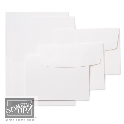 Precut Note Cards and Envelopes by Stampin Up