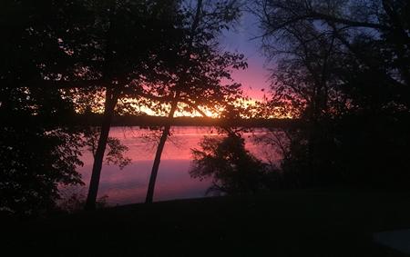 Sunrise over Lake Henry Minnesota