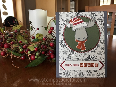 Color Your World International Blog Hop - Jolly Friends stamp set and Jolly Hat Builder Punch by Stampin Up www.stampstodiefor.com