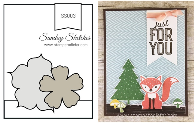 Sunday Sketches SS002 by Stamps to Die For Foxy Friends Stamp Set