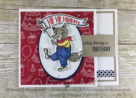 December Border Buddies PDF Free Tutorial Featuring Birthday Memories Suite by Stampin' Up!