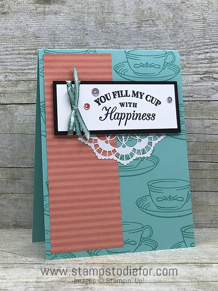 Tea Room Paper Border Buddy's One Sheet Wonder - Stampin' Up! www.stampstodiefor.com Piece A