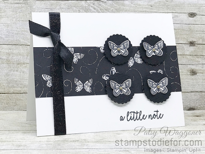 Card Created using Sunday Sketch SS019 and Butterfly Gala Stamp Set and Punch and Botancal Butterfly Paper #stampinup #SS019