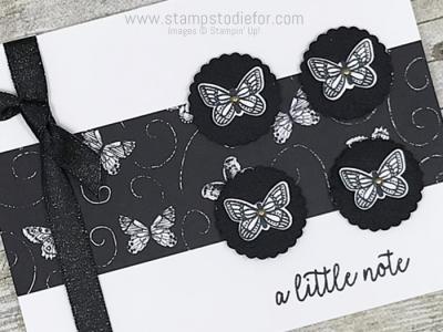 Card Created using Sunday Sketch SS019 and Butterfly Gala Stamp Set and Punch and Botancal Butterfly Paper #stampinup #SS019 (3)