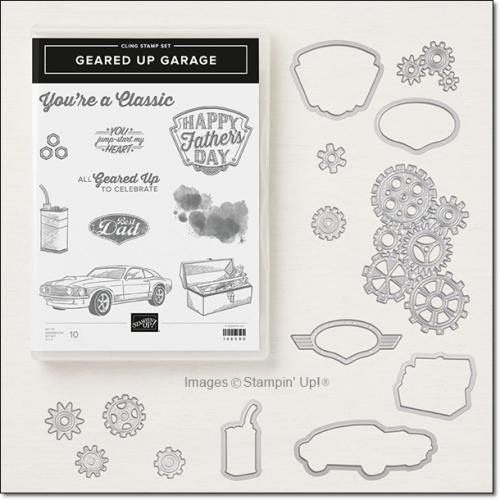 Geared Up Garage Stamp Set and Framelits Bundle by Stampin Up