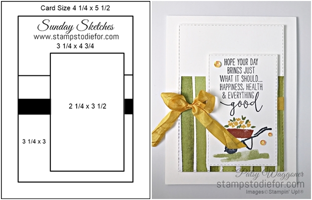 Sunday Card Sketch My Meadow Stamp Set by Stampin Up wheel (2) horz