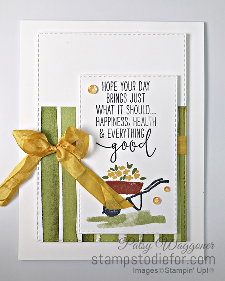 Sunday Card Sketch My Meadow Stamp Set by Stampin Up wheel