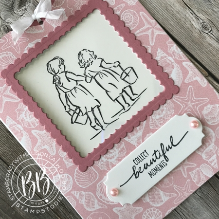 Beautiful Moments stamp set by Stampin Up paper piecing technique (4a)