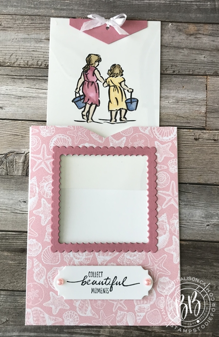 Beautiful Moments stamp set by Stampin Up paper piecing technique (4)