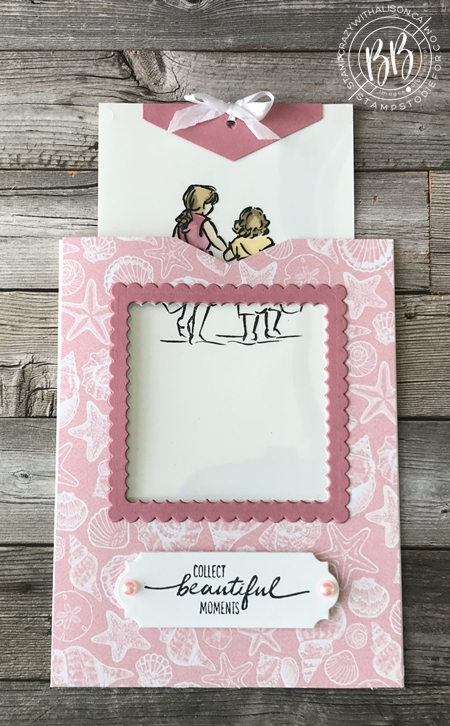 Beautiful Moments stamp set by Stampin Up paper piecing technique (4d)