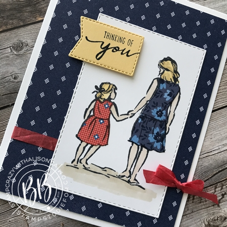 Beautiful Moments stamp set by Stampin Up paper piecing technique (3a)