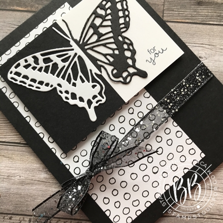 Split Negative with Die Cut Butterfly Brilliance by Stampin' Up!