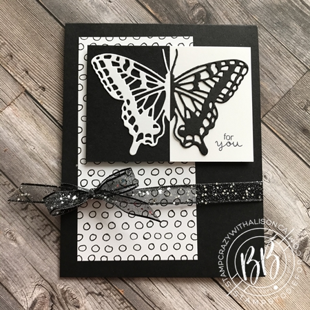 Split Negative with Die Cut Butterfly Brilliance by Stampin' Up! 3