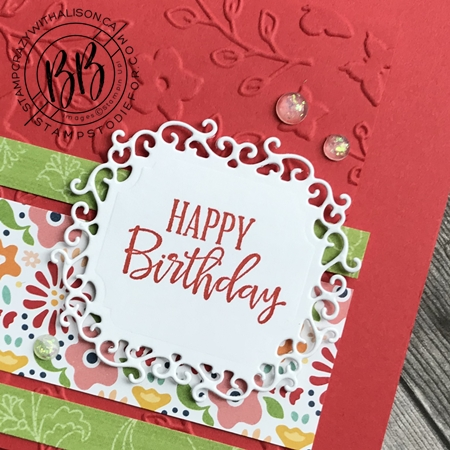 Just in CASE (copy and selectively edit) series card using the Peaceful Moments stamp set  Pattern Party DSP and Ornate Frames Dies by Stampin' Up! (6)