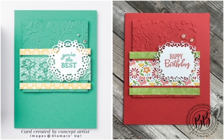 Just in CASE (copy and selectively edit) series card using the Peaceful Moments stamp set  Pattern Party DSP and Ornate Frames Dies by Stampin' Up!