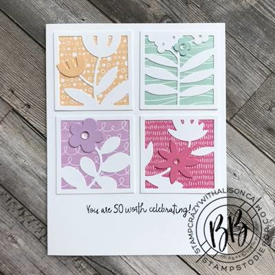 Border Buddy Sunday Sketch Card Series featuring the All Squard Away stamp set by Stampin' Up!