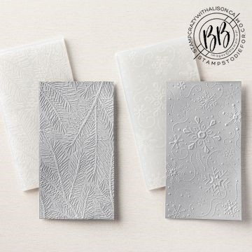 3D Wintry Embossing Folders by Stampin' Up!