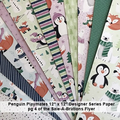 Penguin Playmates  Designer Series Paper by Stampin' Up! Free with qualifing order offer ends Sept 30 2021