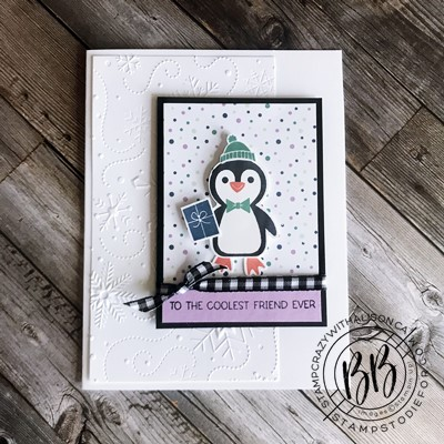 Border Buddy PDF Tutorial featuring the Penguin Place stamp set by Stampin' Up! (ribbon)