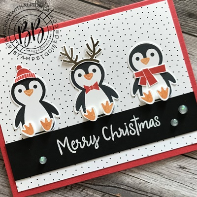 Border Buddy Sunday Sketch Card Series featuring the Penguin Place stamp set by Stampin' Up! (2)