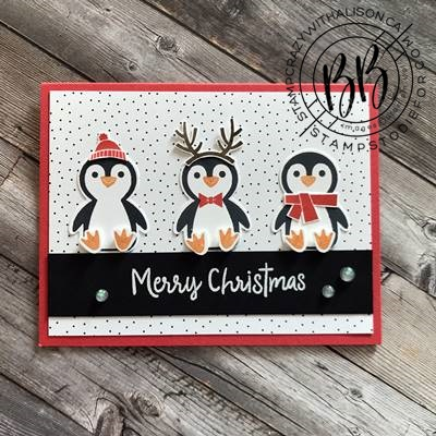 Border Buddy Sunday Sketch Card Series featuring the Penguin Place stamp set by Stampin' Up!