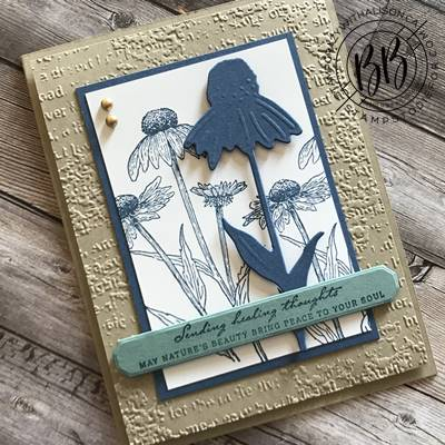 Border Buddy Saturday – Card Created Using Nature Harvest Stamp Set