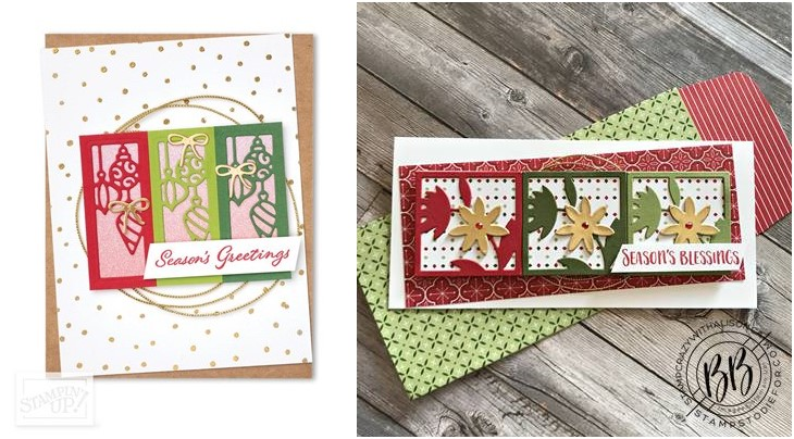 Comparing the card I made CASEing the card on page page 71 of the July-Dec 2021 Mini Catalog using the All Squared Away stamp set by Stampin' Up!