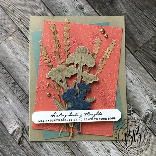 Sending Healing Thoughts Card created by Alison Solven using the Harvest Meadow Suite.
