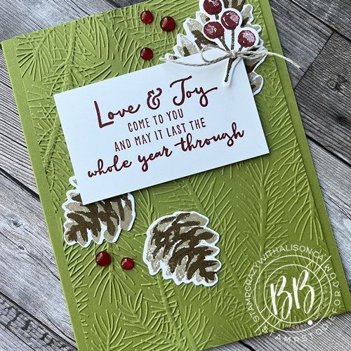 Christmas card created using the Christmas Season Stamp Set by Stampin' Up!