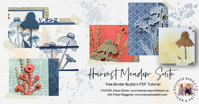 Collage of cards featured in our September Free Border Buddy PDF Tutorial.