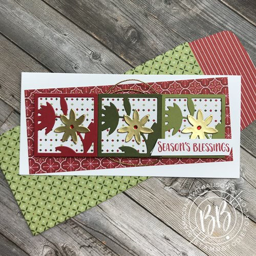 Image of a Just in CASE card hand stamped using the Floral Squared Dies and All Squared Away Stamp Set by Stampin Up matching envelope