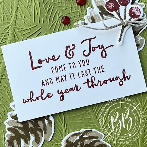 sentiment from a Christmas to Remember Stamp Set by Stampin' Up!