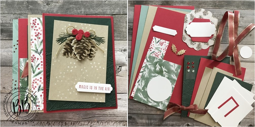 Sneak Peek at the October Take and Make Card Kit  using the Painted Christmas Suite Collection by Stampin Up! Cards