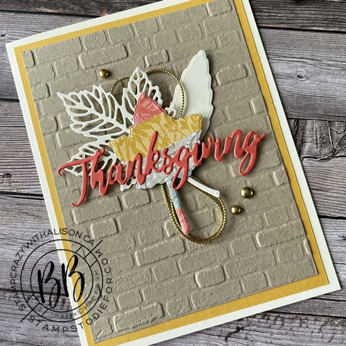 CASE card created using the Intricate Leaves Dies by Stampin Up