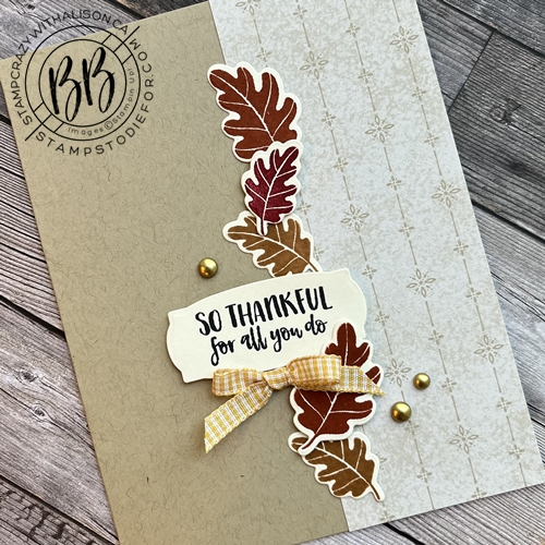 Hand stamped card using the Season's Blessings Stamp Set and coordinating Seasonal Dies by Stampin UP