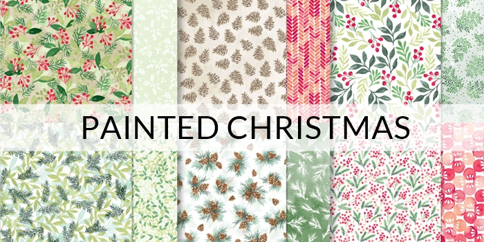 Painted Christmas Designer Series Paper by Stampin Up