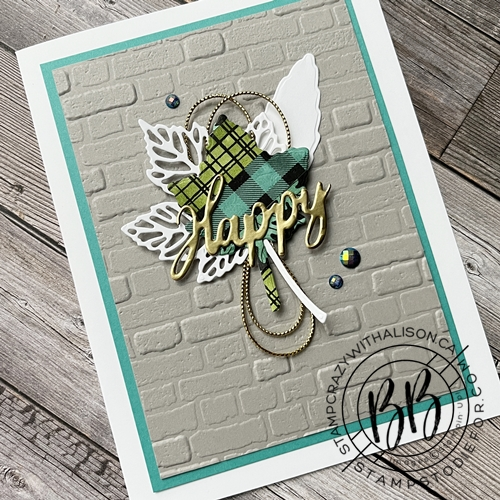 non fall card created using bright colors  and cut out with the Intricate Leaves Dies