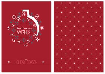 Oranmental Christmas Postcard Template