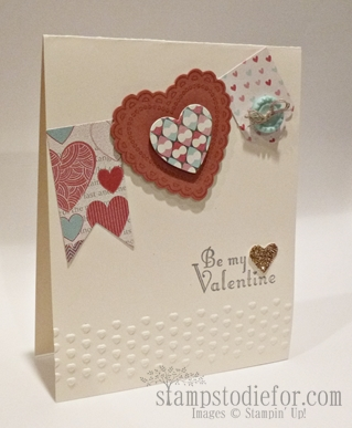 Hearts a Flutter Valentine Card Pennant