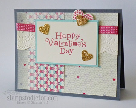 More Amore Valentine Card paper crafts