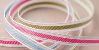Stiped organdy ribbon
