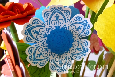 Flowers made with paper crafting 022