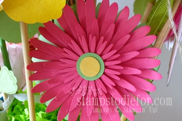 Flowers made with paper crafting 026